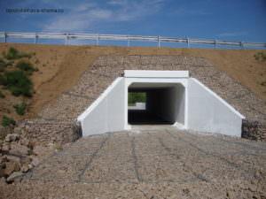 Прямоугольная бетонная водопропускная труба