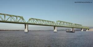 Железнодорожный мост на границе с КНР